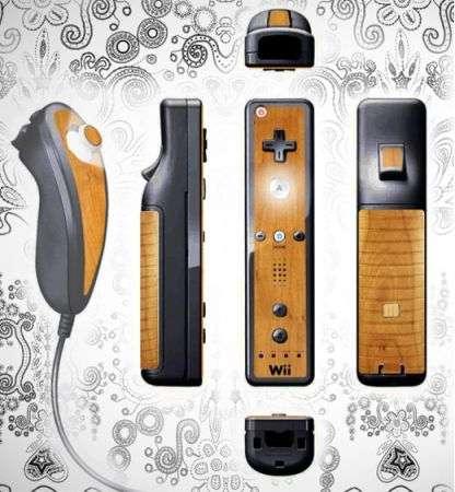 Controller Wii di legno