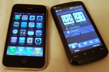 HTC Touch HD video e paragone con iPhone 3G e Samsung Omnia