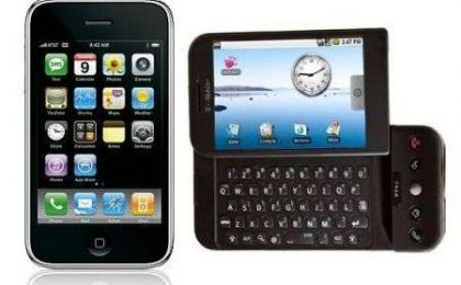 G1 Android (HTC Dream) contro iPhone 3G