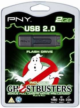 PNY Flash Drive Ghostbusters con film!