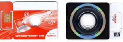 Wind: schede con simcard e DVD incorporato