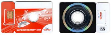 Wind: schede con simcard e DVD incorporato