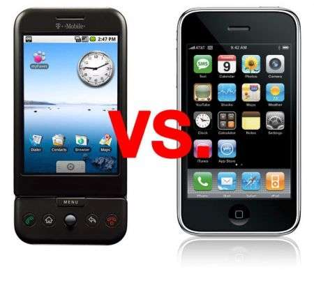 iPhone 3G versus T-Mobile G1 Android: velocità 3G