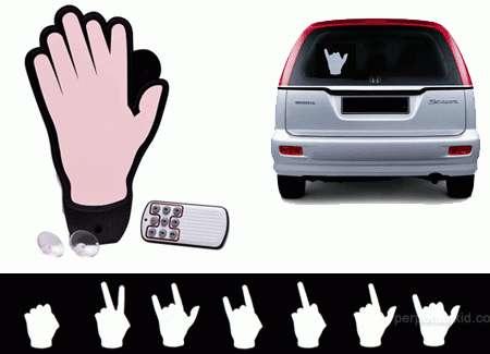 Sentimenti in auto con The hand