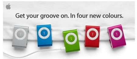 Apple Shuffle, 4 nuovi colori