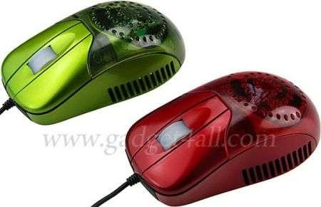 Mouse USB con messaggi e ventolina
