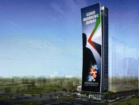 Podium: il più grande schermo LED al mondo, a Dubai