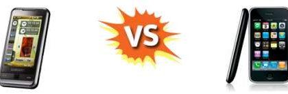 iPhone 3G versus Samsung Omnia i900