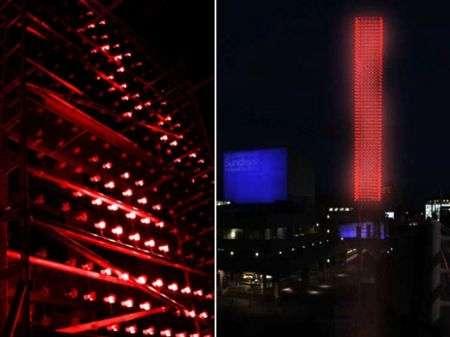 Aeolian Tower: torre con mini luci alimentate dal vento