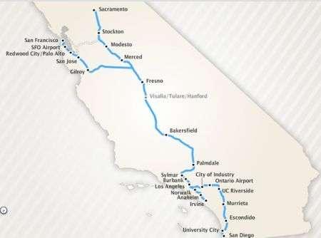 California: treni a 355 km/h