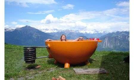 Vasca da bagno autoriscaldante outdoor DutchTub