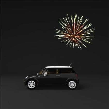 Ologrammi fuochi d'artificio per trovare l'auto nei parcheggi