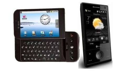 HTC G1 e Touch Diamond volano