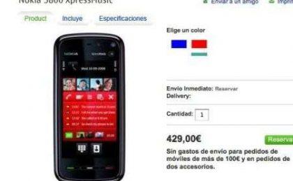 Prezzo di Nokia 5800? 429 Euro in Spagna