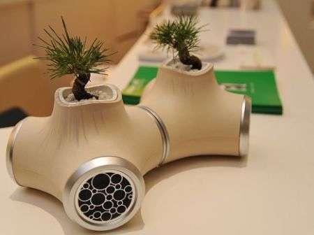 Altoparlanti modulari Sound Garden JVC con bonsai!
