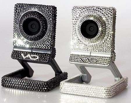 La Webcam con Swarovski: accecante!