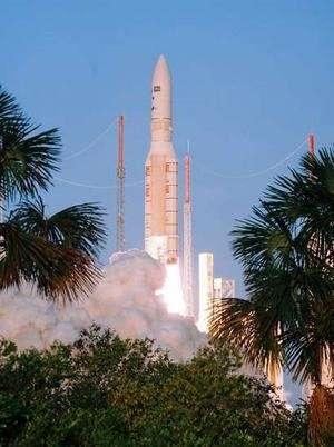 Due satelliti Eutelsat lanciati in orbita da un Ariane 5