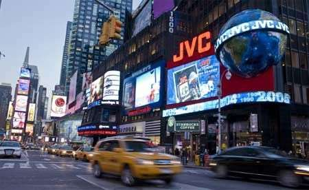Times Square: primi display giganti HD da JVC