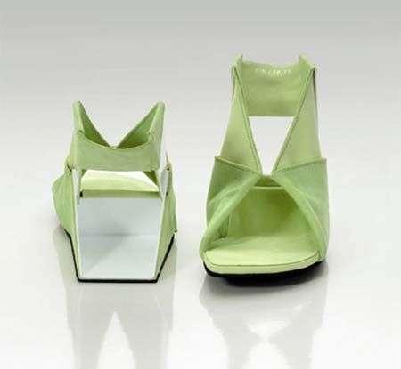 Le scarpe origami di Catherine Meuter