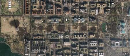 Satellite GeoEye di Google per contare le persone all'insediamento di Obama