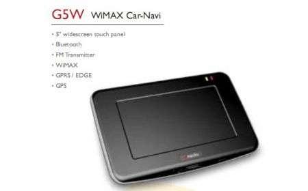 Navigatore GPS dMedia G5W con Wimax