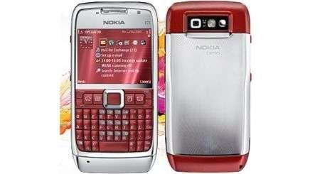 Nokia E71 nero e rosso