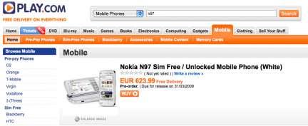 Nokia N97 uscita: in UK alla fine di Marzo