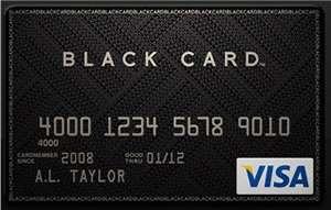 Visa Black Card in grafite