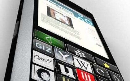 Blackberry: concept con tastiera a pulsanti OLED