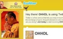 Dalai Lama su Twitter, pagina sospesa?