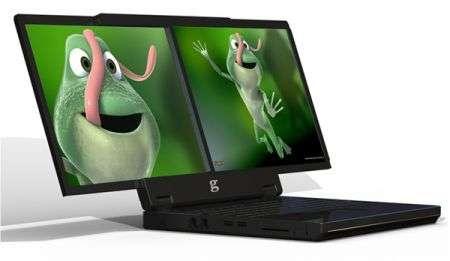 Notebook gScreen G400 e TITAN-M1: doppio display