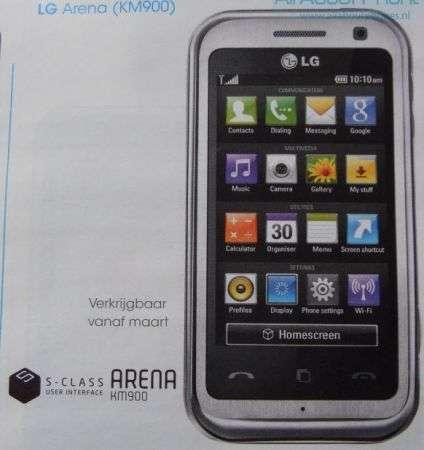 LG Arena KM900: touchscreen e multimedialità