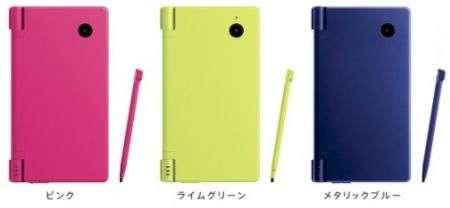 Nintendo DSi in verde, rosa e blu!