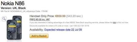 Nokia N86 prezzo e uscita