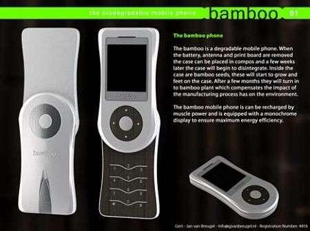Bamboo Phone: il cellulare biodegradabile
