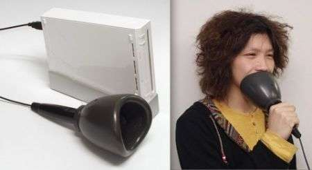Microfono Hudson Karaoke JOYSOUND Wii, bizzarro!
