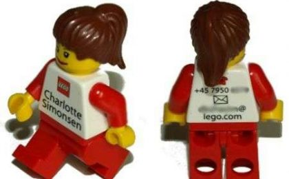 LEGO: omini al posto di biglietti da visita
