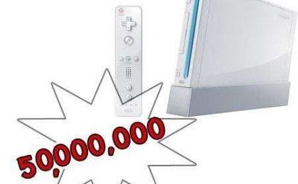 Nintendo Wii: vendute già 50 milioni di console