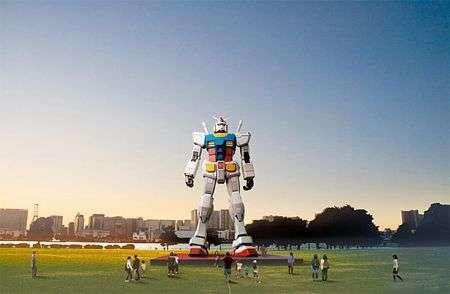 Robot Gundam Gigante alto 18 metri