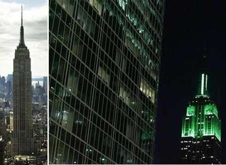 Empire State Building diventa verde