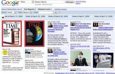 Google: timeline news e riconoscimento immagini simili
