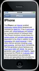 Encyclopedia: Wikipedia offline su iPhone