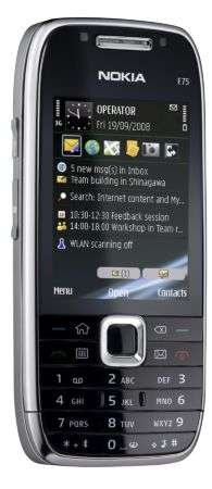 Nokia E75 con Nokia Messaging