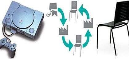 Playstation riciclate per costruire sedie