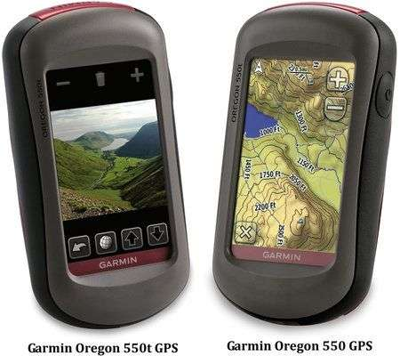 GPS Garmin Oregon 550 e 550t per tipi seri