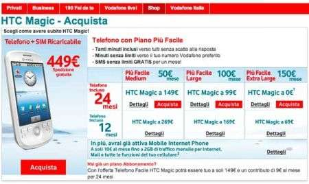 HTC Magic finalmente acquistabile. Le tariffe Vodafone