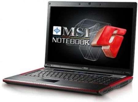 MSI GX723 gaming notebook in arrivo