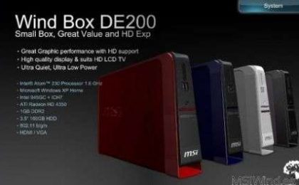 Nettop MSI Wind Box DE200