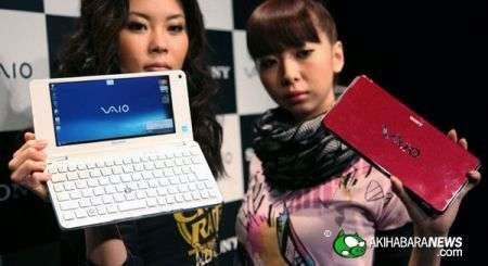 Sony Vaio P50 monta Windows XP