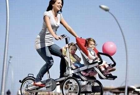 Taga, la bicicletta-passeggino
